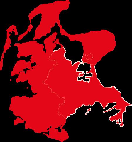 Wahlkreis Rügen hellrot